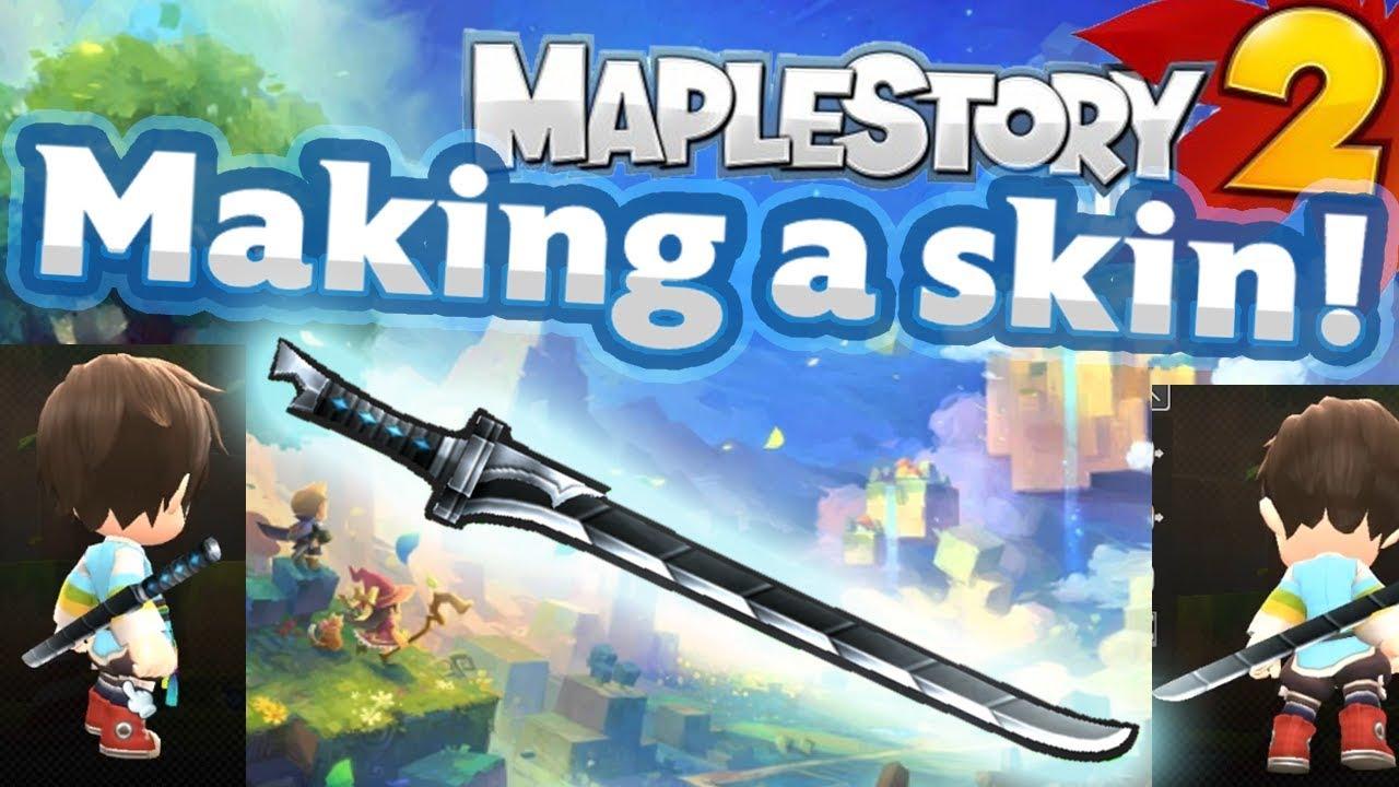 Maplestory 2 - Making a Skin! UGC (Chain Blade - for Rune Bladers)