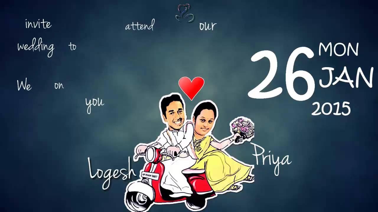 Wedding Invitation Video Mangalyam Thanthunanena Youtube