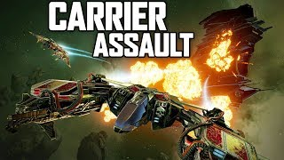 CARRIER ASSAULT! Fighters vs Capital Ships! (EVE Valkyrie Star Fighter Combat Gameplay)