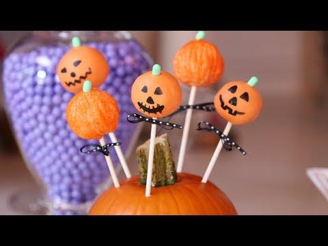 Pumpkin Cake Pops, Halloween Recipes, Yum How To - YouTube