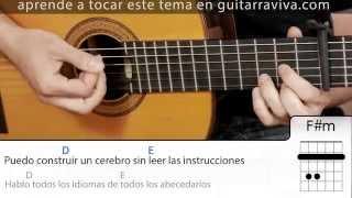 Cómo tocar Muerte en Hawaii guitarra acordes y letra Cover  (DEMO) Calle 13