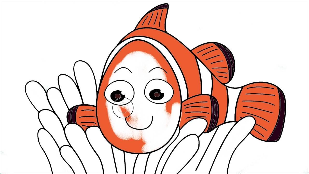 Kayıp Balık Nemo çizgi Film Karakter Boyama 2 Minik Eller Boyama