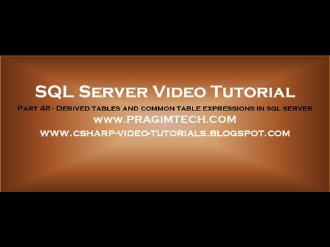 Download Derived tables and common table expressions in sql server   Part 48
