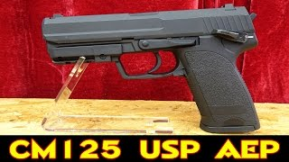 SOFTAIR CYMA CM125 USP AEP (Automatic Electric Pistol) FÜR 75 EURO [deutsch/german]