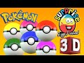 Learn Colors with 3d Surprise Eggs | Surprise Toys Pokemon Edition Cartoon for Kids