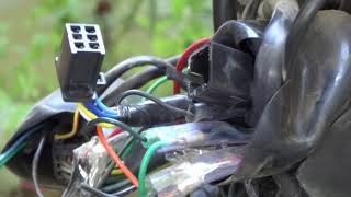 How to change headlight connection of bike on battery