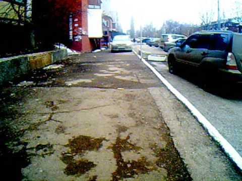 10 03 16 Саратов в364вв Гнойный пидор ублюдок всегда ставит корыто на пешеходном тротуаре