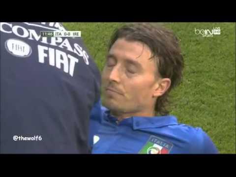 Montolivo Injury - Italy VS Ireland 31-5-2014