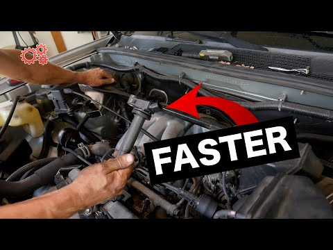 Short Cut! Replace Rear Ignition Coil On Toyota Highlander Camry Lexus 3.0 V6