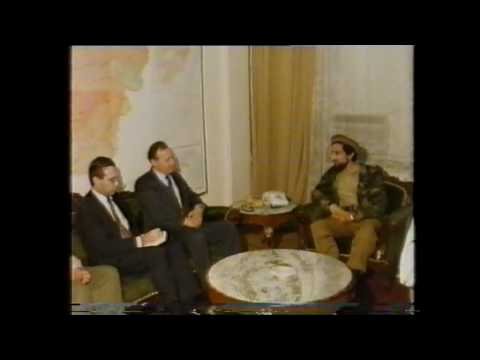 Great Massoud and Peter Thomson at Ministry of Defence Kabul