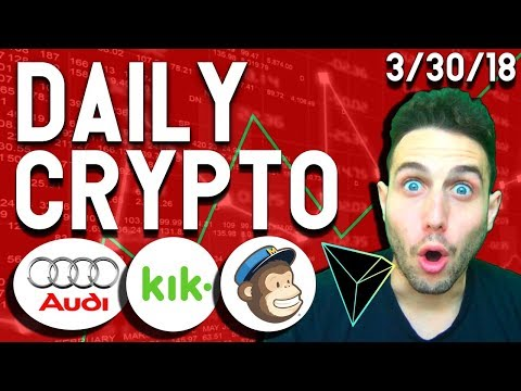 Daily Crypto News: Bitcoin Dives, Tron Test Net, Audi Blockchain, MailChimp Censorship, Kik Unity