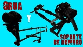 Cómo construir GRÚA+SOPORTE DE HOMBRO para Cine (60 euros)