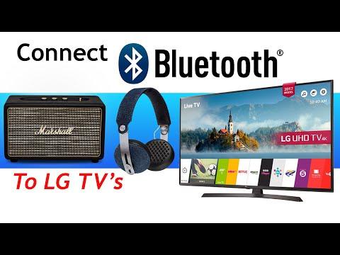 Bluetooth Headphones or Speakers with LG 2017 2018 4K TV's