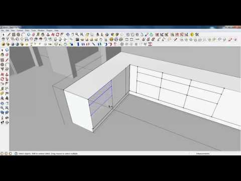 tutorial sketchup membuat Kitchen furniture
