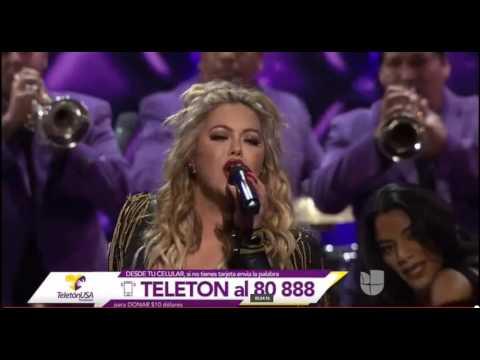 CHIQUIS RIVERA CANTA ¨La Necia¨EN EL TELETON U.S.A 2016