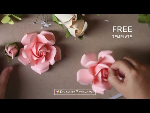 Free template: Paper Rose tutorial, updated version
