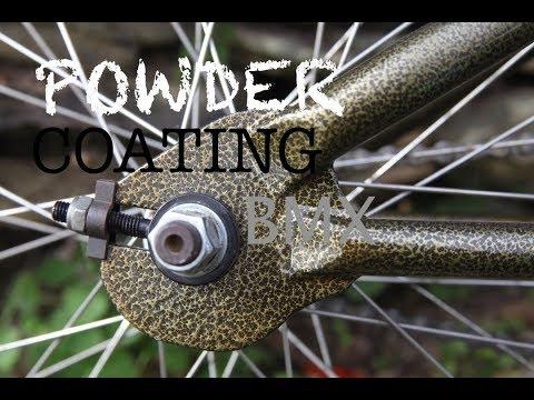 POWDER COATING A BMX BIKE!