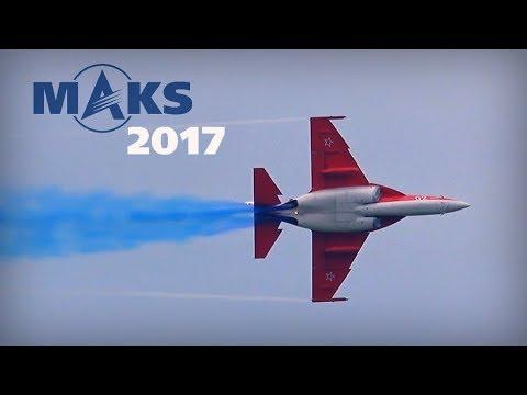 MAKS 2017 - Yak-130 with blue smoke! - HD 50fps