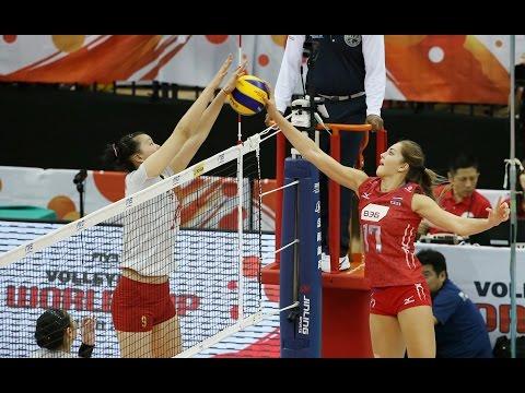 Волейбол. Россия - Китай. Женщины. Кубок мира 2015. Япония. 05.09.2015