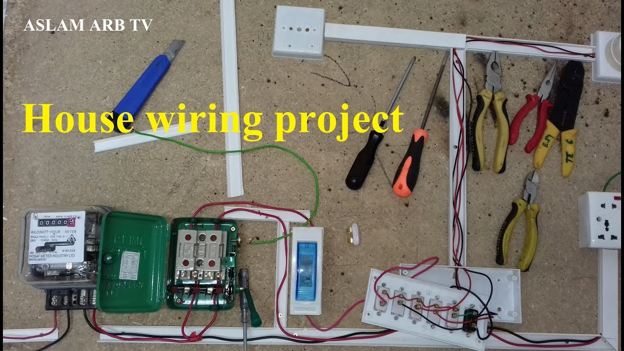 house wiring project youtube Old House Wiring House Wiring Circuits Diagram
