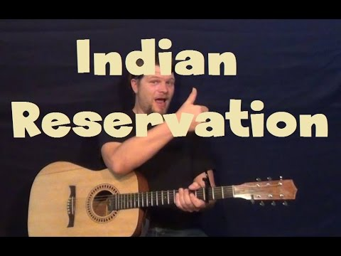 Indian Reservation (Raiders/Don Fardon) Easy Strum Guitar Lesson How to Play Tutorial