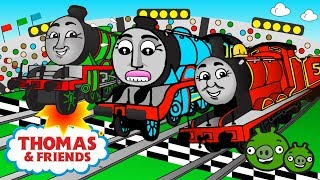 THE GREAT RACE | CRICKET CUP ♦ Thomas and Friends Surprise Eggs ♦ Animated Toy Trains for Kids