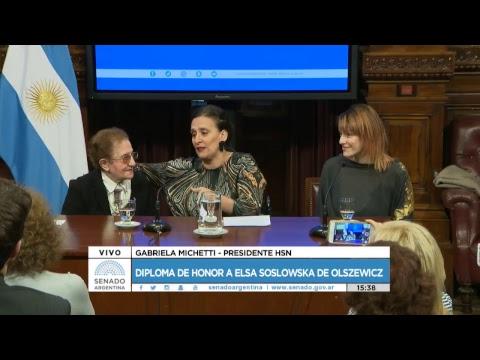 DIPLOMA DE HONOR A ELSA SOSLOWSKA DE OLSZEWICZ18-05-17