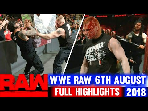 WWE Monday Night Raw 6th August 2018 Hindi Highlights Preview - Roman Reigns vs Brock Lesnar Results