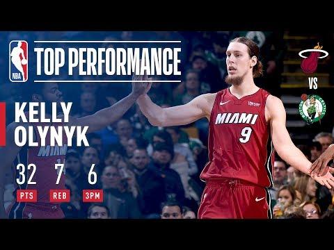 Kelly Olynyk Scores CAREER-HIGH 32 Pts vs. Celtics | December 20, 2017