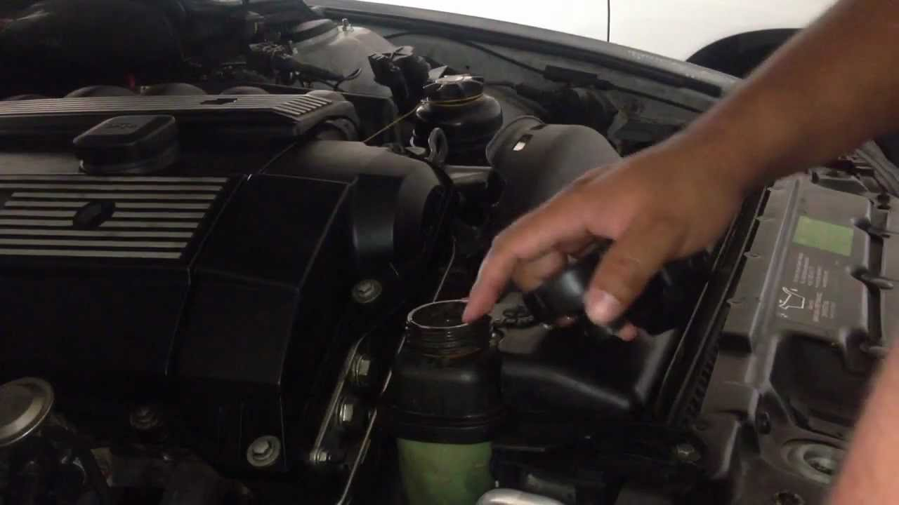 diy replacing expansion tank radiator cap and way 97 03 bmw 5 series e39 528i e46 e36 e38 m5 youtube [ 1280 x 720 Pixel ]