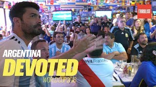 Argentina Soccer Fans Waтch the World Cup in Queens    Devoted