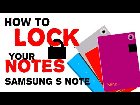 "How to lock your notes with password ""Samsung S note"""
