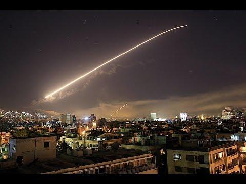 Появилось видео перехвата израильской ракеты силами ПВО Сирии