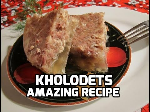 Kholodets (Aspic) - Russian Meat Jelly Video Recipe