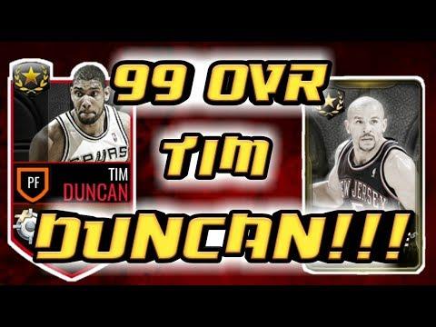 99 OVR TIM DUNCAN!!! HUGE ULTIMATE LEGEND BUNDLE OPENING NBA LIVE MOBILE!!!