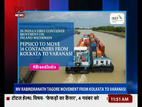 India's first container vessel movement on Ganga river