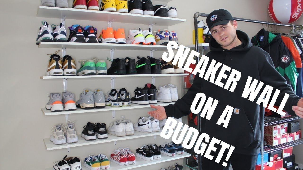 Building A Sneaker Wall On Budget