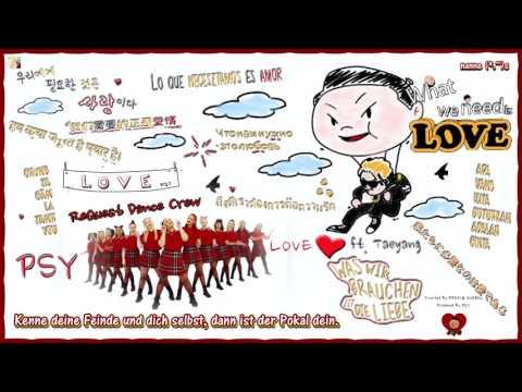 PSY (박재상) ft. Taeyang (태양) - Love k-pop [german Sub] 8th Album: 4x2=8