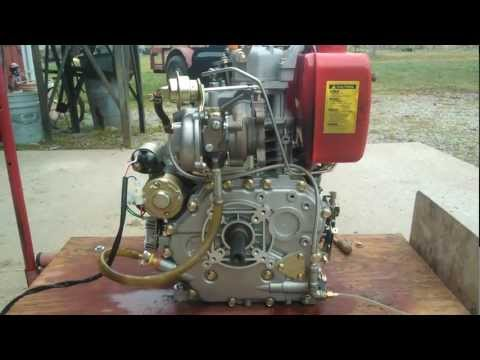 Turbo and Oil Flow Testing on Turbo-Diesel 10hp Single Cylinder Engine