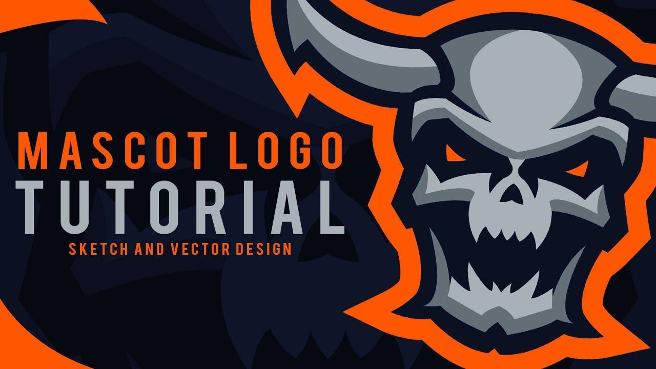 How to Make eSport Mascot Logo Tutorial PT 1 : Sketch and Vector Design