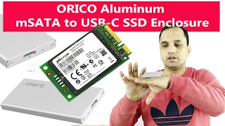 ORICO Aluminum mSATA to USB-C SSD Enclosure