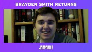 Brayden Smith Returns Today | JEOPARDY!
