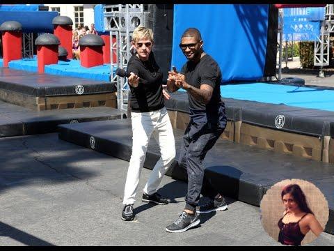 TheEllenShow Usher Becomes an American Ninja Warrior ellen degeneres show is cool