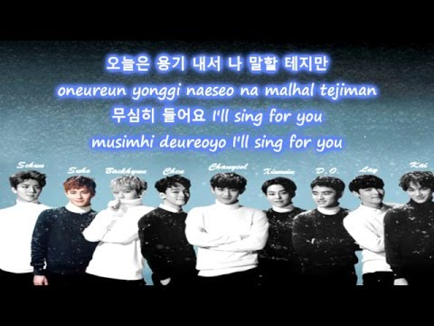 EXO - Sing For You [Korean Ver.] Color Coded Lyrics