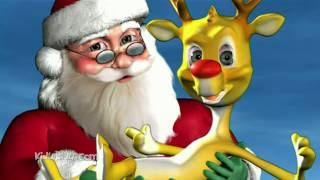 Rudolph the Red Nosed Reindeer Song with Lyrics | Christmas Carol songs 3D Cartoon Animation