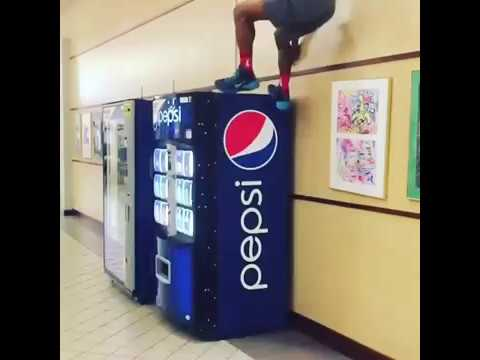 DEXTON on ESPN Sports Center for Jumping on Pepsi Machine!