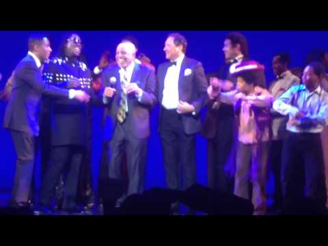 """Berry Gordy onstage at Opening Night (Aug 19, 2014), """"Motown The Musical"""" (San Francisco, CA)"""