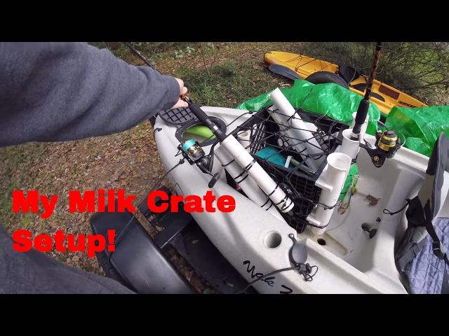 My Kayak Fishing Milk Crate Setup