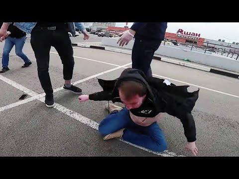 Шведа опять избили! Полное видео драки с Коваленко
