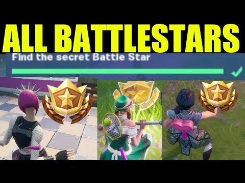 Fortnite | ALL Secret Battle Stars Season 10 - Week 1 To 7 Locations (Season X)